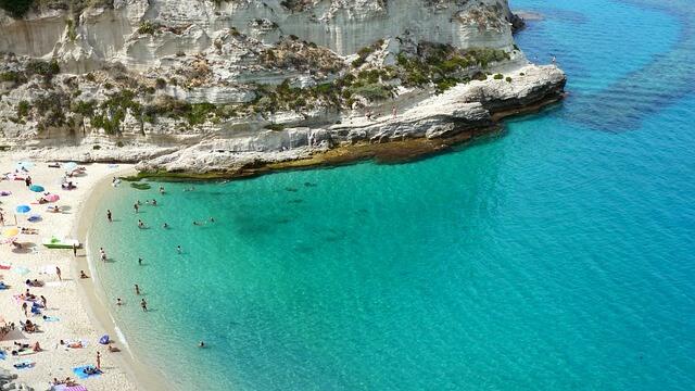 Spiaggia di Tropea in Calabria