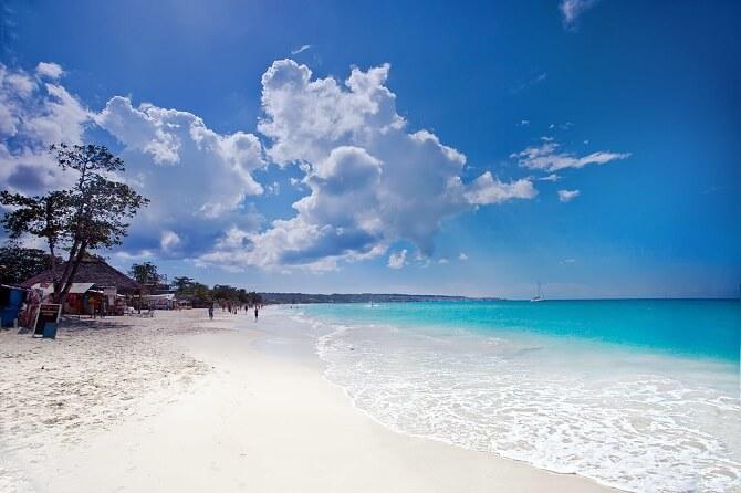 Seven mile beach Giamaica